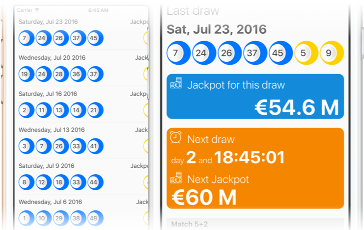 Grand Lotto EuroMillions iOS
