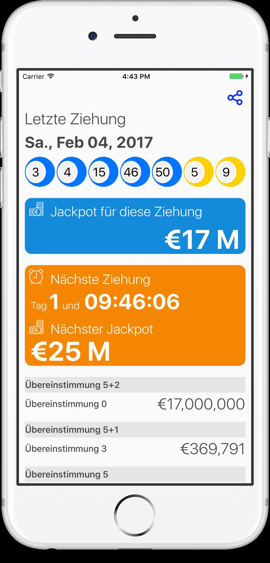Lottozahlen überprüfen App